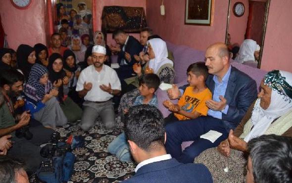 Soylu'dan PKK'lıların katlettiği bakkalın evine taziye ziyareti