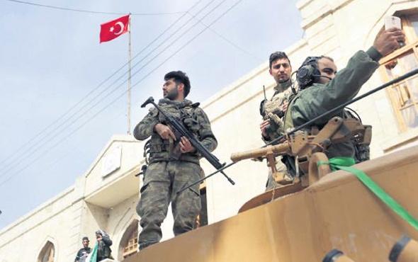 Afrin'deki Türk askeriyle ilgili dikkat çeken yazı