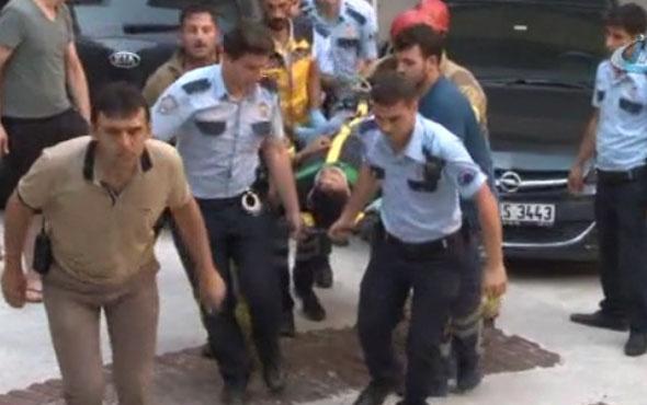 Beşiktaş'ta dördüncü kattan düşen kişiyi itfaiye kurtardı