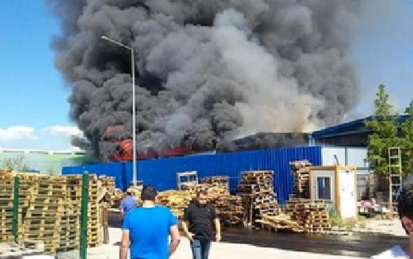 Ankara'da fabrika yangını! İşte ilk görüntüler