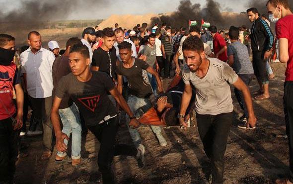 Gazze'de yaralanan Filistinli genç şehit oldu