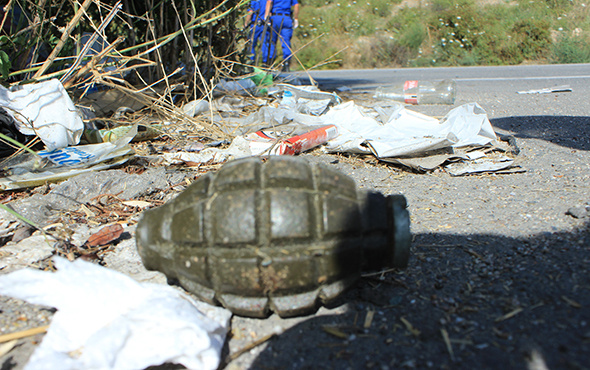 TIR parkında patlamamış el bombası bulundu!