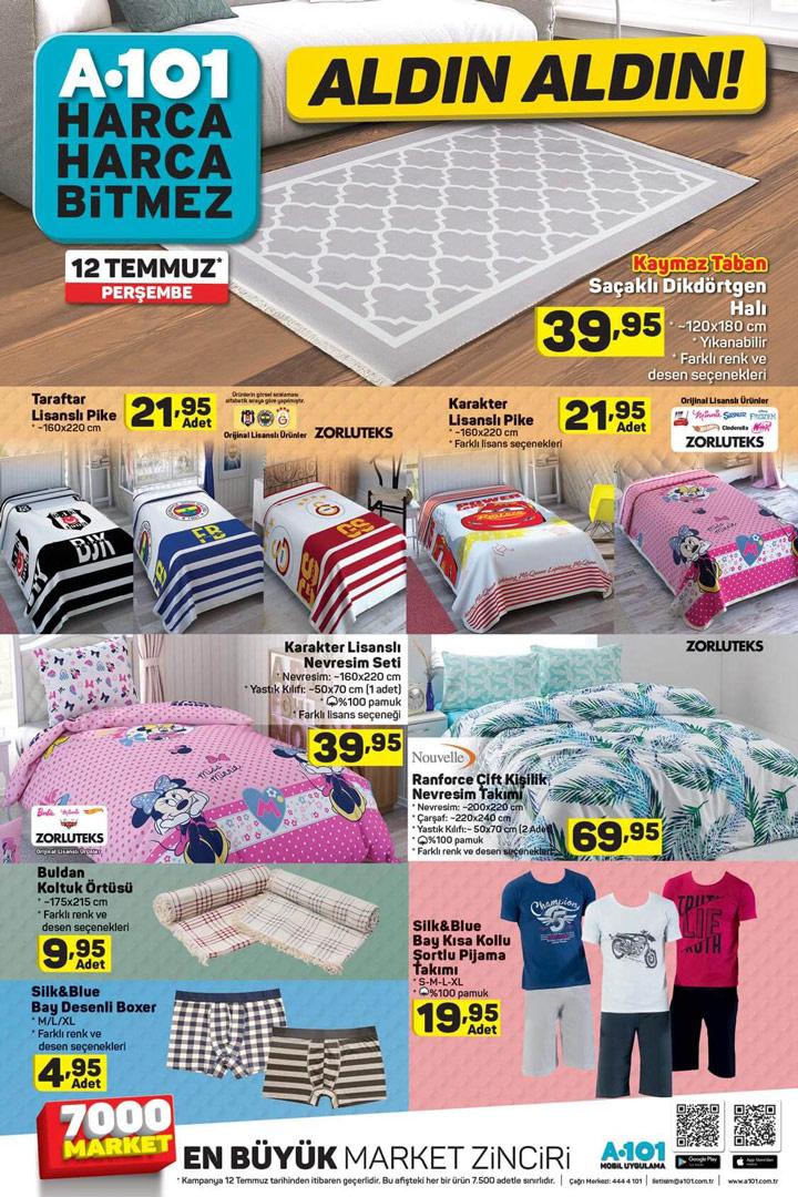 A101 12 Temmuz aktüel katalog yeni indirimli ürünler listesi  - Sayfa 1