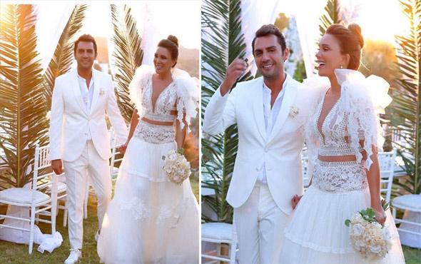 Cennet'te bir düğün! Seren Serengil Yaşar İpek çifti beyazlar içinde evlendi