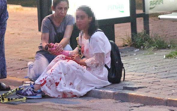 İstanbul'da korku dolu anlar... Otobüs durağında kanlar içinde!