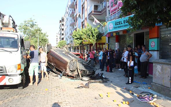 Otomobil takla attı: Ortalık savaş alanına döndü!