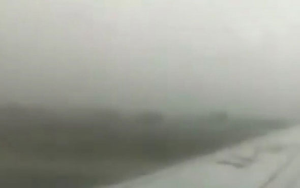 Meksika'da uçağın düşme anı bir yolcu tarafından böyle kaydedildi!