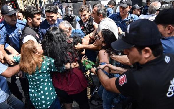 PKK'nın çağrı yaptığı gösteriye polis müdahalesi olaylar çıktı!