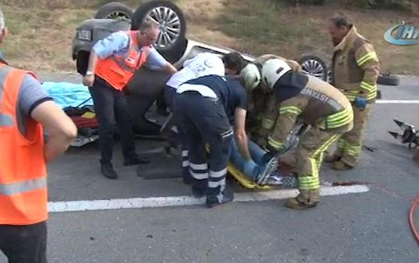 TEM'de feci kaza! 1 ölü 1 yaralı