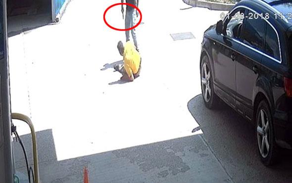 Arabasını yıkamayan lastikçiye kurşun yağdırdı