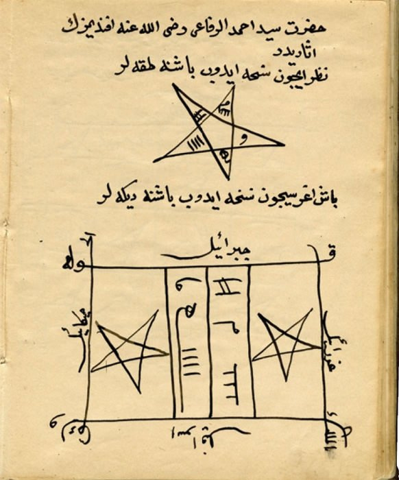 Ortadoğu tılsım kitabı sadece iyilik büyüleri var! Rufai şeyhinin vefki en ünlüsü...