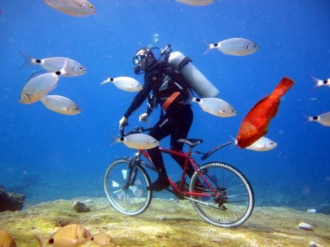 Denizin altında bisiklet sürüp tavla oynadılar - Sayfa 2