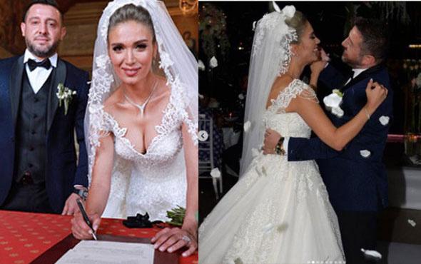 Nihat Kahveci ile Fulya Sever düğünlerini boğazda yaptılar