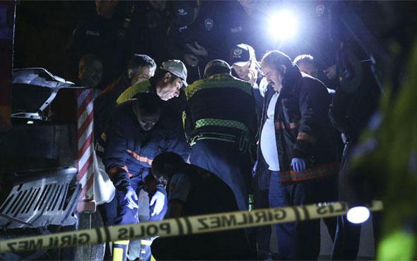 Ankara'da feci kaza! Üst geçitteki vince çarptılar ve hepsi öldü...