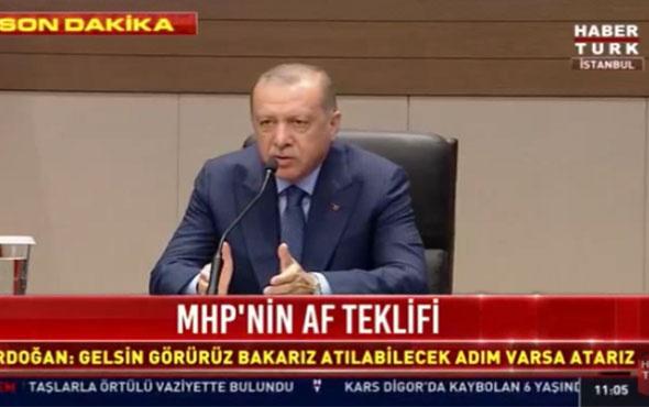 Cumhurbaşkanı Erdoğan'dan ittifak açıklaması