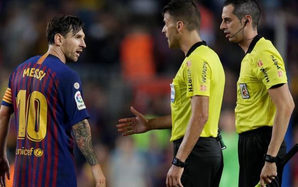 Messi maç sonu hakemin eli sıkmadı! Barcelona kazanamayınca...