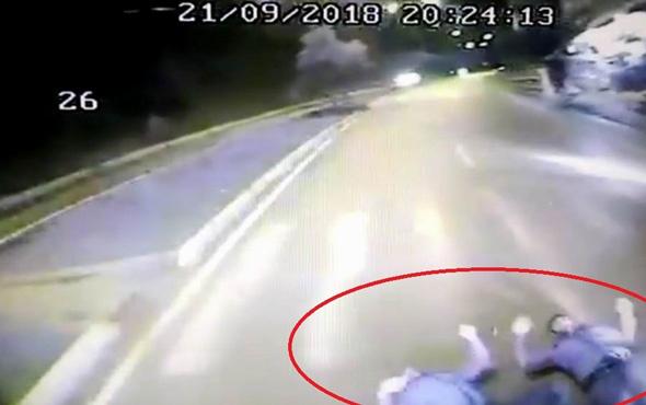 Samsun'da 2 kişinin öldüğü kazanın dehşet anları kamerada