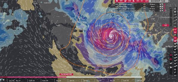 Meteorolojiden bomba duyuru tropikal kasırga doğru çıktı bu ilk kez olacak