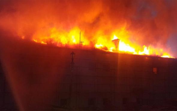 Konya'da kız yurdunda korkutan yangın