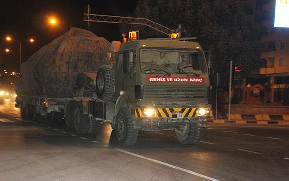 Suriye sınırına tank ile fırtına obüs sevkıyatı yapıldı!