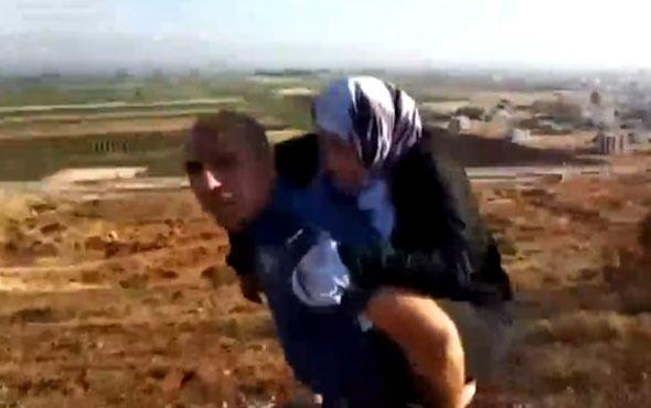 Kahraman polis yaralı Suriyeliyi 2 kilometre sırtında taşıdı