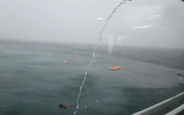 İstanbul'da helikopter düştü! Kurtarılanlar var...