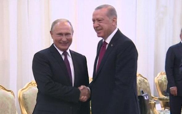 Cumhurbaşkanı Erdoğan kritik zirve öncesi Putin'le görüştü