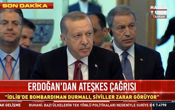 İdlib Zirvesi'nde Erdoğan canlı yayında Putin ve Ruhani'yi terletti