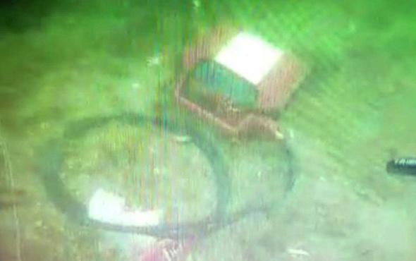 İşte Bostancı'da düşen helikopterin enkaz görüntüsü!