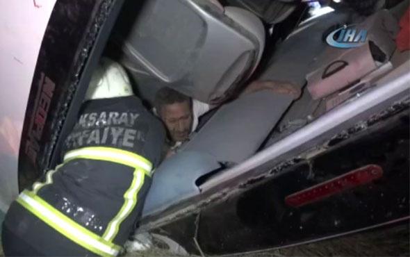 Aksaray'da yolcu otobüsü devrildi: 5 ölü