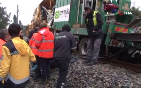 Florya'da deneme seferi yapan tren, başka bir trenle çarpıştı