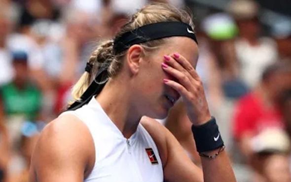 Azarenka, basın toplantısında gözyaşlarını tutamadı