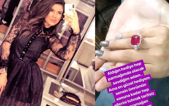 Bircan Bali yüzüğü taktı yeni sevgilisi bakın kim