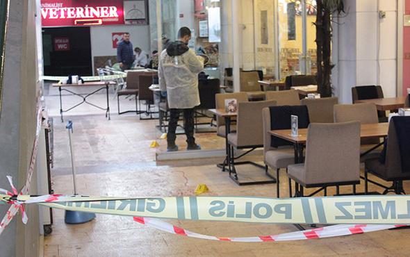 Kafede yemek yerken silahlı saldırıya uğradı!