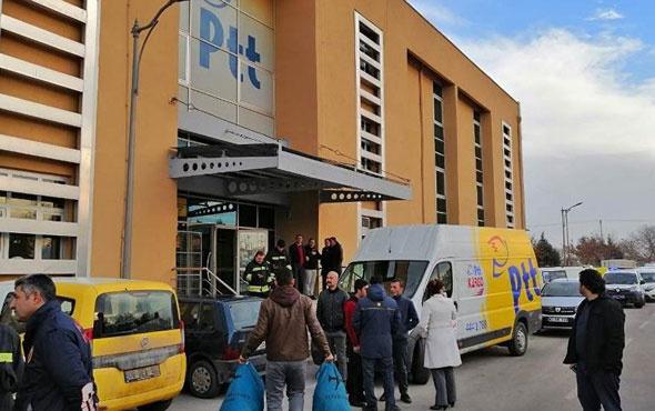 Konya'da PTT'de patlama! Polis olay yerinde yaralılar var
