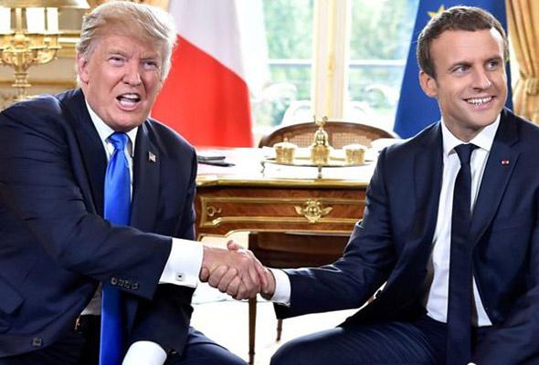 Macron Trump'a destek verdi Gürcistan Guaido'yu tanıdı