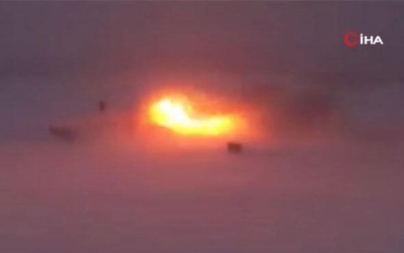 Rus bombardıman uçağının düşme anının görüntüleri ortaya çıktı!