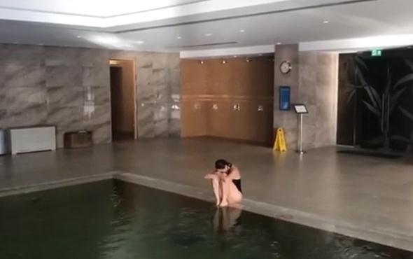 Hülya Avşar'ın havuz videosu olay oldu!