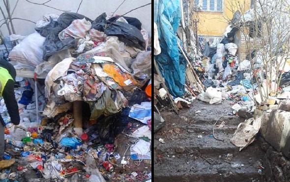 Evden tam 20 ton çöp çıktı 3 günde anca temizlendi