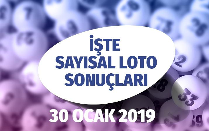30 Ocak 2019 Sayısal Loto çekiliş sonuçları açıklandı