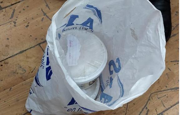 Van'daki operasyonda yoğurt kabından çıktı