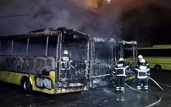 Tekirdağ'da üç özel halk otobüsü kül oldu!