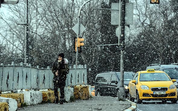 İstanbul'da beklenen kar yağışı etkili olmaya başladı