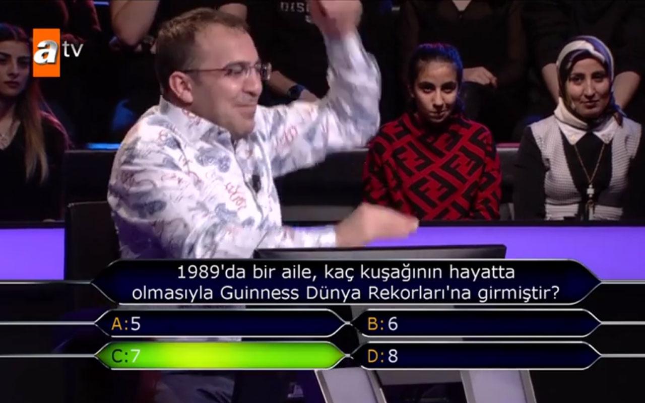 Kim Milyoner Olmak İster'e Gaziantepli Mehmet Akar damga vurdu