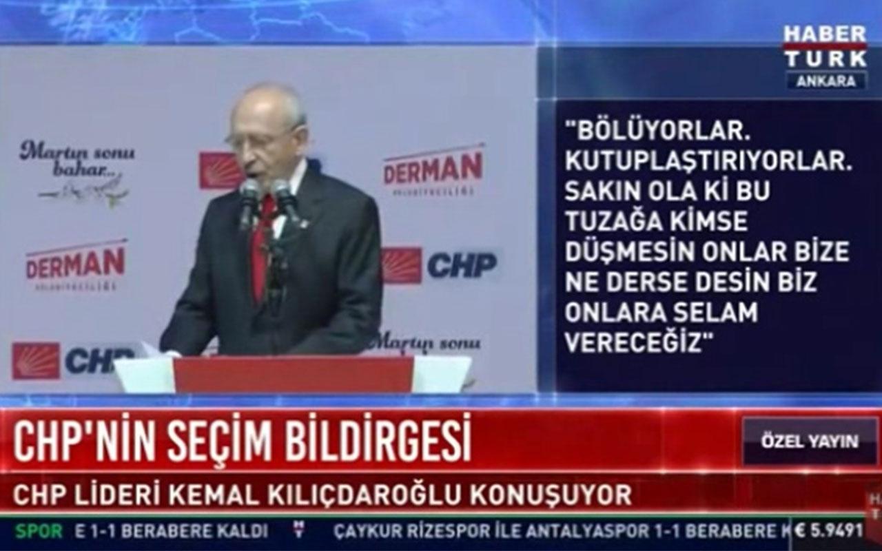 Kemal Kılıçdaroğlu Temel Karamollaoğlu'na teşekkür ederken zor anlar yaşadı