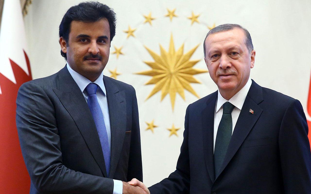 Cumhurbaşkanı Erdoğan, Katar Emiri ile telefonda görüştü