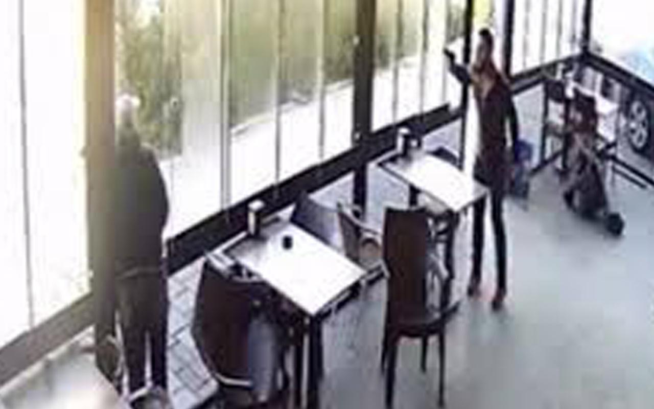 İzmir'de pastanede silahlı saldırı kamerada