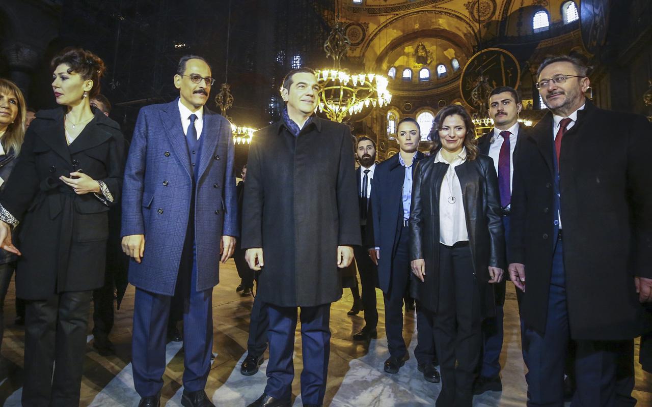 Yunanistan Başbakanı Aleksis Çipras, Ayasofya'yı ziyaret etti