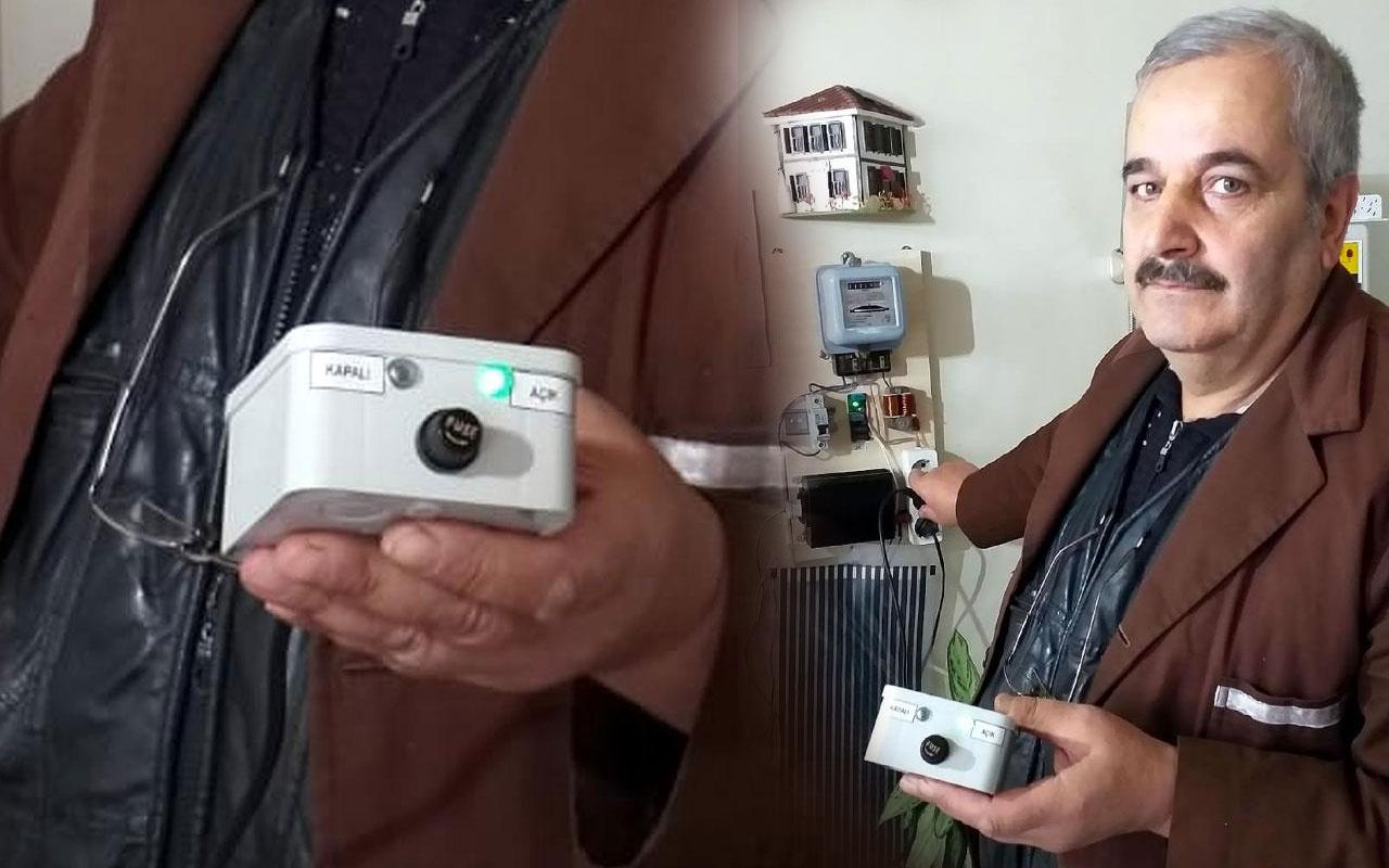 Geliştirdiği cihazla elektrikte kendisine yüzde 25 indirim yapıyor!