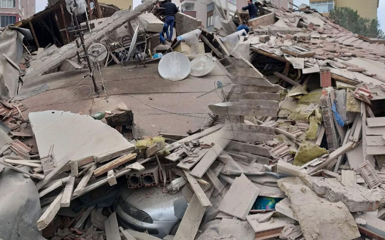 Kartal'da 8 katlı ve 24 daireli bina çöktü! İşte çöken binanın görüntüleri